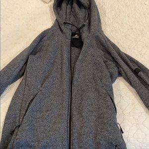 Men's Large Jordan Zip Up Hoodie Nike Heather Grey